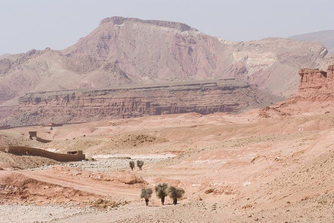 Gorges of Dades, on  the way of Kasbas, between Marrakech and the desert.